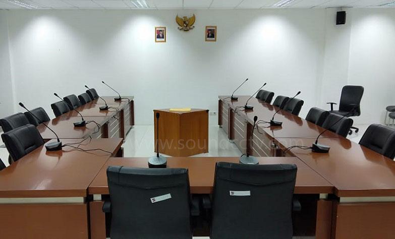 Pemasangan Mic Conference di Gedung DPRD Bogor