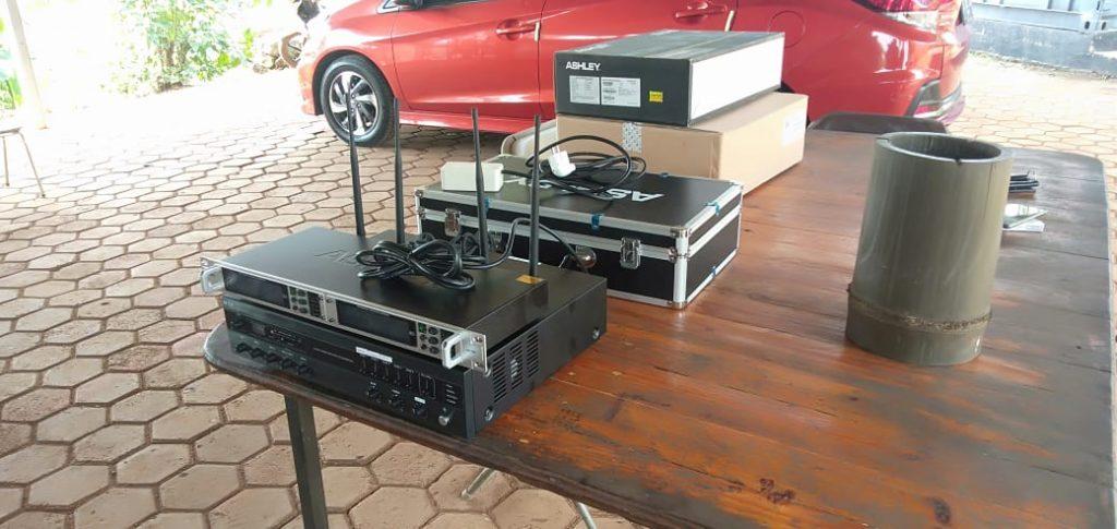 Amplifier Instalasi Sound System Lapangan Tembak Satlas Brimob Cikeas