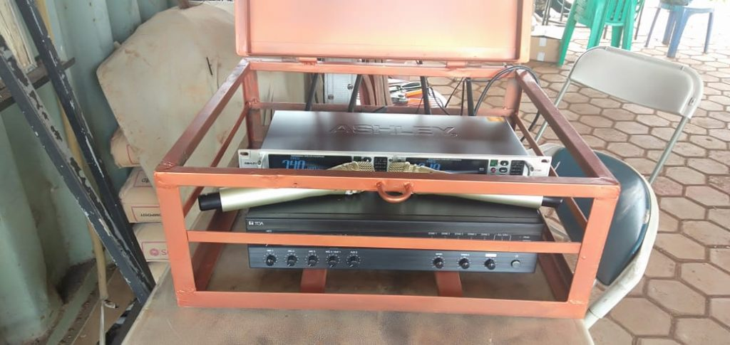 Control Instalasi Sound System Lapangan Tembak Satlas Brimob Cikeas