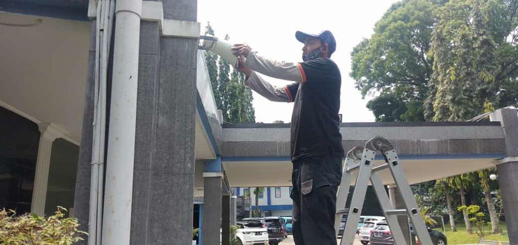 Pemasangan paging system di PDAM Kota Bogor 5